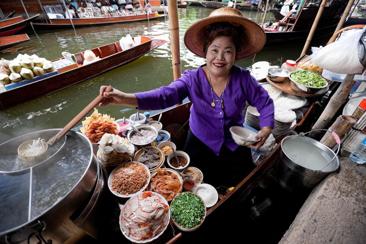 Prodejce thajských nudlí