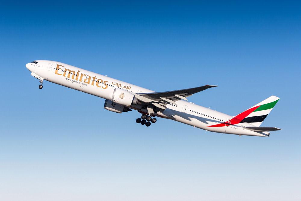 Zürich, Switzerland  December 10, 2013: Emirates Airline Boeing 777 departing Zurich airport.