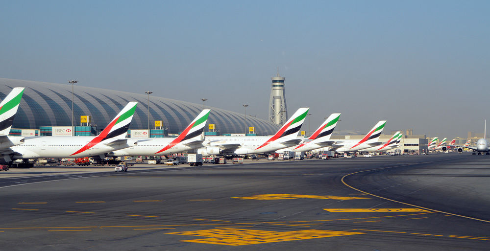 Dubai, United Arab Emirates  November 02, 2012: Dubai International Airport is a major world hub airport and home to Emirates, the national airline.